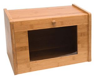 Lipper International 8847 Bamboo Bread Box with Tempered Glass Window