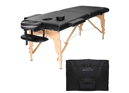 Saloniture Professional Portable Folding Massage Table with Carrying Case