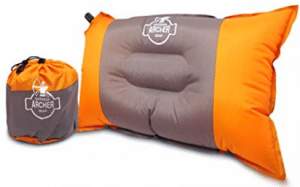 "Archer Compressible Self Inflating Camping Pillow 20"" X 12"""