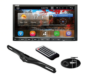 Premium 7In Double-DIN Android Car Stereo Receiver With Bluetooth