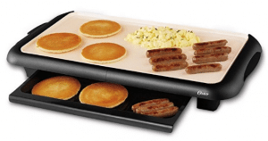 Oster CKSTGRFM18W-ECO DuraCeramic Griddle with Warming Tray