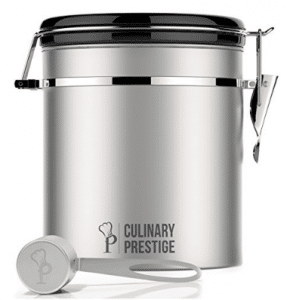 Stainless Steel Coffee Canister 16 oz
