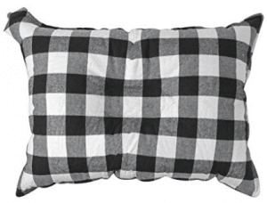 The Big E-ZZZ XL Camp Pillow - Large 20 in. by 14 in. Travel Pillow with Microfiber Coating