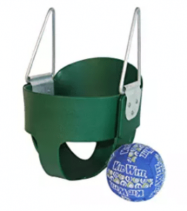 High Back Full Bucket Toddler Infant Swing Seat With Bonus Ball