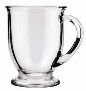 Anchor Hocking Café Glass Coffee Mugs, 16 oz (Set of 6)