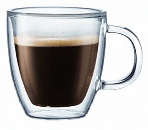 Bodum BISTRO Coffee Mug, Double-Wall Insulated Glass Espresso Mugs