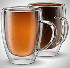 c7d53f40668 Anchor and Mill Double Walled Insulated Glass Coffee Mugs or Tea Cups for  Espresso