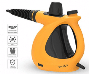 Handheld Steam Cleaner, Ymiko Multi-Purpose Pressurized Steam Cleaner with 9-Piece Accessories for Stubborn Stains Removal in Bathroom