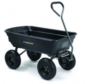 Gorilla Carts Poly Garden Dump Cart with Steel Frame and 10-in. Pneumatic Tires