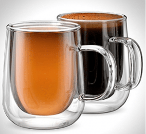 Anchor and Mill Double Walled Insulated Glass Coffee Mugs or Tea Cups for Espresso