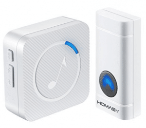 Homasy Wireless Doorbell Waterproof Door Bell Kit