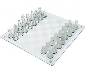 Maxam 33 Piece Glass Chess Set