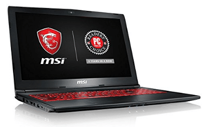 "MSI GL62M 7RDX-2027 15.6"" 94% NTSC Performance Gaming Laptop i7-7700HQ GTX 1050 2G 8GB 128GB SSD+1TB"