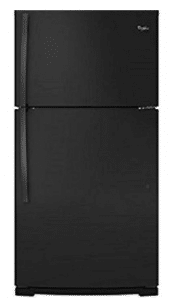 Whirlpool WRT541SZDB 21.3 Cu. Ft. Black Counter Depth Top Freezer Refrigerator - Energy Star