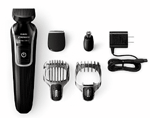 Philips Norelco Multigroom 3100 with 5 attachments and skin-friendly blades