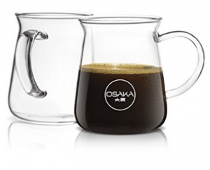 c5f48079c82 Osaka Borosilicate Glass Coffee Mug – Thermal Shock Proof,  Condensation-Free and Specially Designed Rim for Comfort