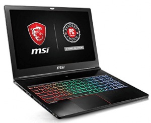 "MSI GS63VR Stealth Pro-469 15.6"" Ultra Thin and Light Gaming Laptop i7-6700HQ GTX 1060 6G 16GB DDR4 128GB SSD + 1TB"