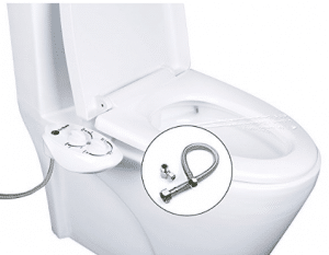 Non-Electric Bidet - Toilet Seat Attachment - Dual Nozzle for Front & Rear