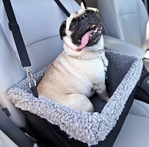 Deluxe Dog Booster Car Seat by Devoted Doggy Metal Frame Construction