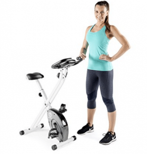 Marcy Foldable Exercise Bike - White