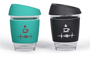 Sbk Double Walled Insulated Reusable Glass Coffee Mugs