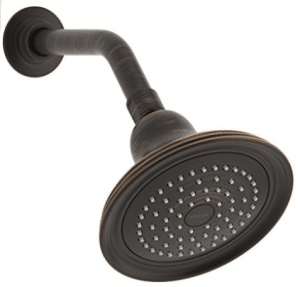 Kohler K-10391-AK-2BZ Devonshire Single Function Showerhead with Katalyst Spray Technology