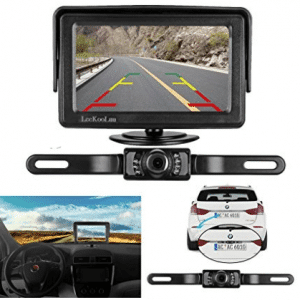 LeeKooLuu Backup Camera and Monitor Kit for Car/Vehicle/Truck