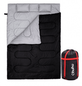 Double Sleeping Bag With 2 Pillows And A Carrying Bag