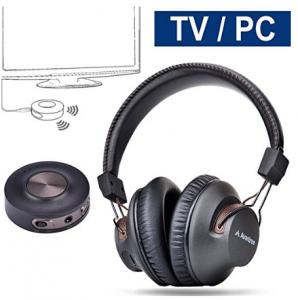 Avantree Wireless Headphones for TV with Bluetooth Transmitter SET, Plug & Play