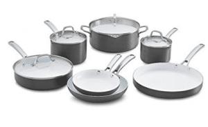 Calphalon 11 Piece Classic Ceramic Nonstick Cookware Set