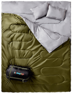 Double Sleeping Bag For Backpacking, Camping
