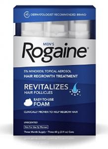 Men's Rogaine Hair Loss & Hair Thinning Treatment Minoxidil Foam