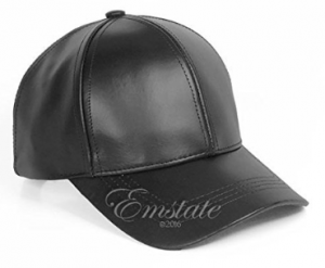 Emstate Genuine Cowhide Leather Baseball Cap Various Colors Made in USA Velcro Back