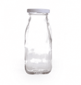Dress My Cupcake DMC93341 12-Pack Vintage Glass Milk Bottles