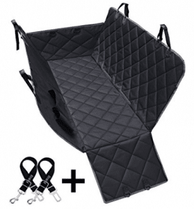 Dog Seat Covers, 600D Waterproof Pet Car Seat Covers with 2 Dog Seat Belts