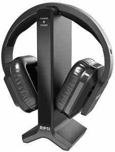 RIF6 Wireless TV Headphones 2.0 Over Ear Cordless Headphone with RF Transmitter