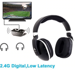 Wireless Headphones for TV with RF Transmitter for Watching and Listening