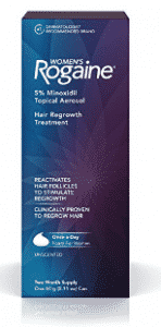 Women's Rogaine Treatment for Hair Loss and Hair Thinning Once-A-Day Minoxidil Foam