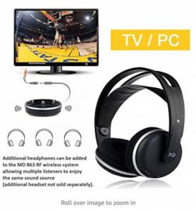 Wireless Universal TV Headphones, Monodeal Over-Ear
