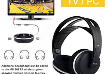 Wireless Universal TV Headphones, Monodeal Over-Ear