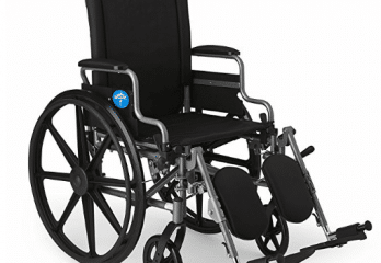 Medline Lightweight and User-Friendly Wheelchair with Flip-Back