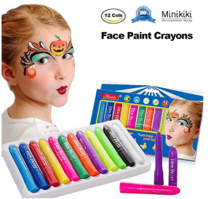 MiniKIKI Face Paint Crayons, Face Painting Kits