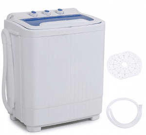 DELLA Mini Washing Machine Portable Compact Washer and Spin Dry Cycle with BUILT-IN PUMP