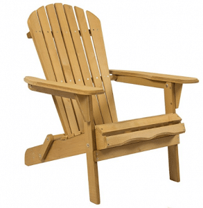 Best Choice Products Foldable Wood Adirondack Chair for Patio