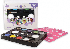 Face Painting Kit + 32 Stencils (Paints 50 - 80 Faces) Body Makeup