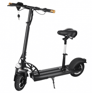 Kaluo 10 Inch Foldable Electric Scooter High Speed Aluminum alloy Lightweight with Suspension Seat Strong Motor for Adult Kid(US Stock) (Black)