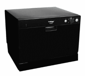 Koldfront 6 Place Setting Portable Countertop Dishwasher - Black