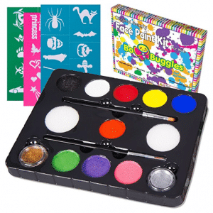 Bo Buggles Face Paint Kit with 30 Stencils