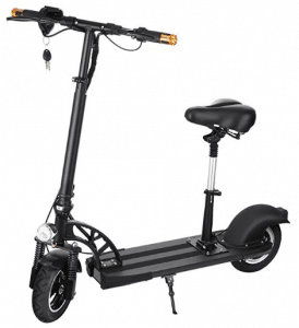 Anfan Electric Scooter Adult with Retractable Seat, Foldable City E-Scooter E-bike for Boys/Girls (US STOCK)
