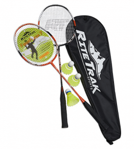 RiteTrak Sports FiberFlash 7 Badminton Racket Set by